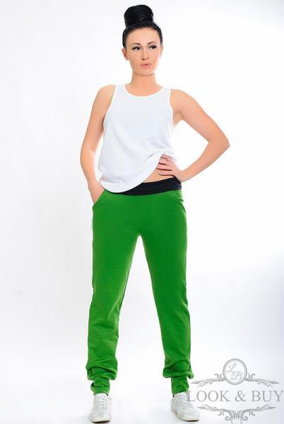 """Трикотажные штаны """"Style"""" трава"""