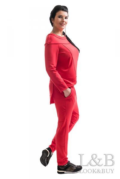 """Трикотажный женский костюм """"Токио""""красный"""