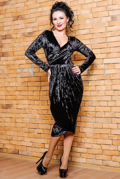 """Черное велюровое платье """"Дороти"""""""