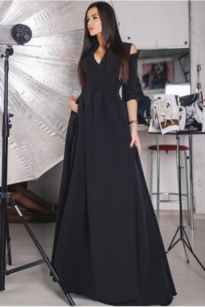 Черное вечернее платье Гарсия