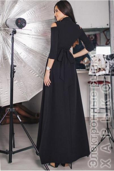 f33c37e635c Черное вечернее платье Гарсия - Вечерние платья на рынке Барабашова
