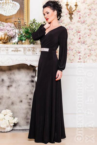 3f3d1acf293 Черное длинное платье