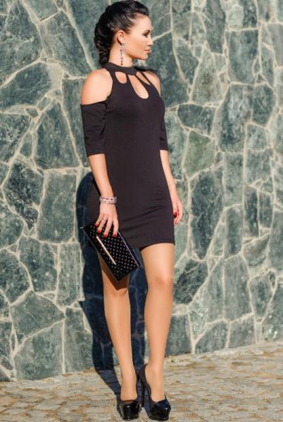 """Черное коктейльное платье """"Infiniti"""""""