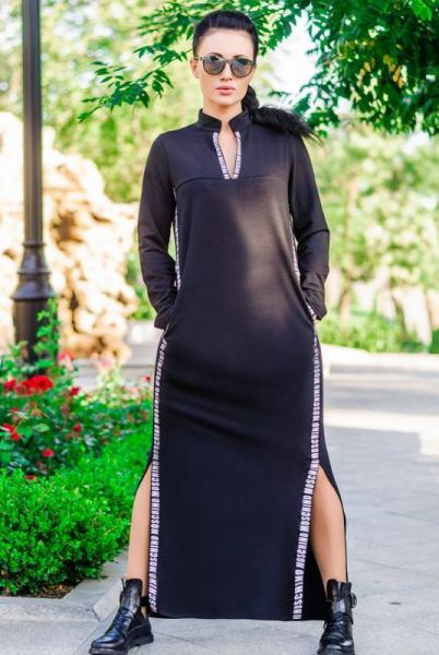 """Черное платье в пол """"Glory"""""""