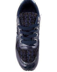 Фото  Кроссовки синие на шнуровке