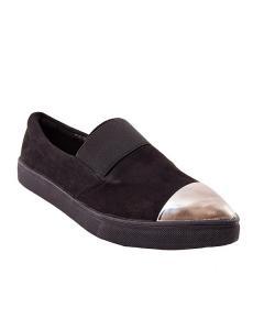 Фото  Туфли с серебристым носком
