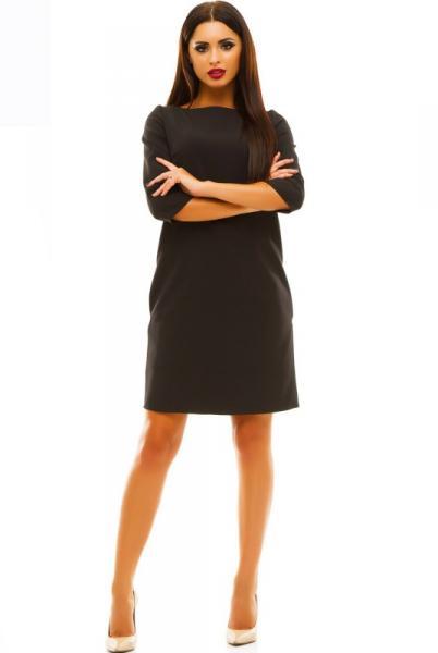 Черное прямое платье Шерри