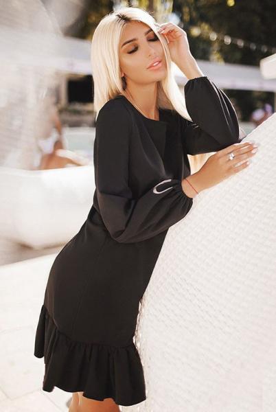 Черное свободное платье Розалия