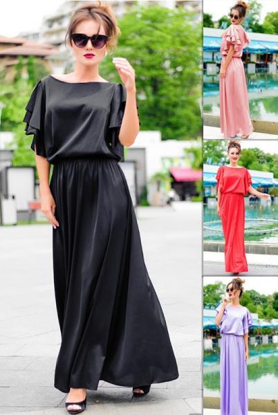 Шелковое длинное платье Шерлиз