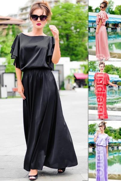 b424984045a Шелковое длинное платье Шерлиз - Платья в пол