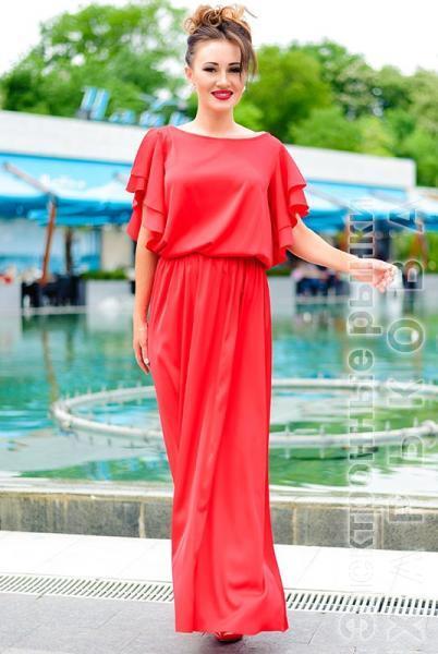 1c6c6fe3b0f ... Шелковое длинное платье Шерлиз - Платья в пол