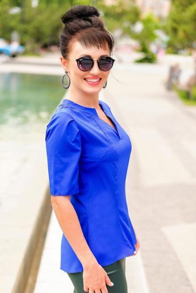 Фото Одежда больших размеров, Блузки больших размеров Элегантная офисная блузка