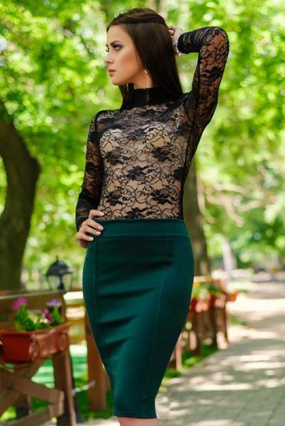 Фото Одежда больших размеров, Женские юбки батал Юбка в обтяжку