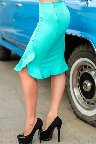 Фото Одежда больших размеров, Женские юбки батал Юбка прямая