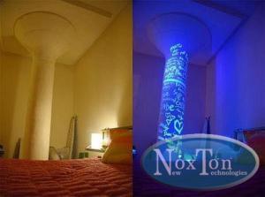 Фото Флуоресцентная краска и пигменты, светятся под воздействием УФ источника Флуоресцентная краска для бетона и наружных работ