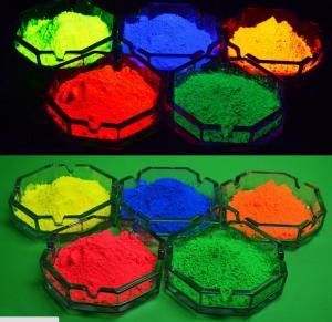 Фото Флуоресцентная краска и пигменты, светятся под воздействием УФ источника Флуоресцентная краска для ПВХ и пластмассы