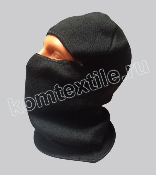 Шапка-маска вязаная, черная