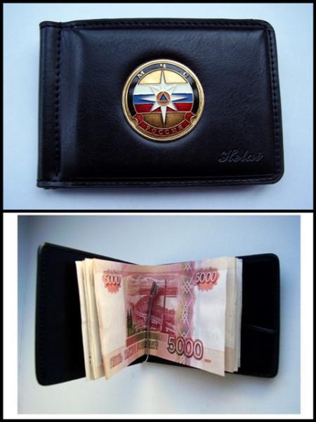 Зажим для денег с жетоном -  МЧС 1