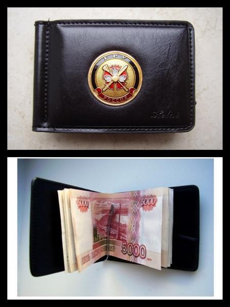 Зажим для денег с жетоном - ГРУ