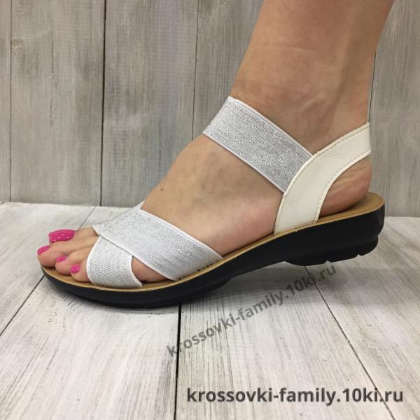 Фото Женская обувь, Босоножки Босоножки женские белые