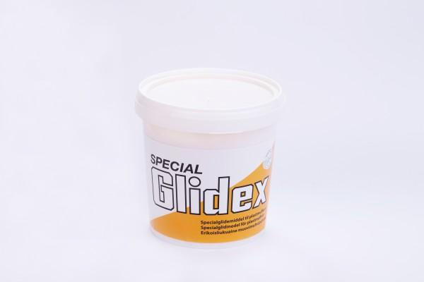 Смазочный мыльный состав для пласт/метал соединений SPECIAL GLIDEX в 1 кг. банке для сборки канализации