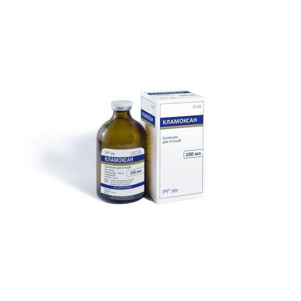 КЛАМОКСАН 100 мл под заказ (Антибиотик пенициллинового ряда, для лечения органов дыхания, мочеполовой системы, суставов, кожи, мягких тканей, при лептоспирозе, мастите, агалактии)