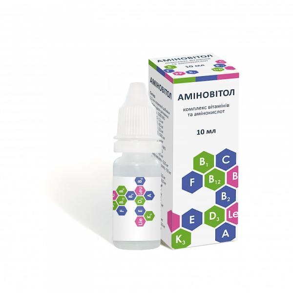 АМИНОВИТОЛ (КАПЛИ) стекло 10 мл (витаминный комплекс)