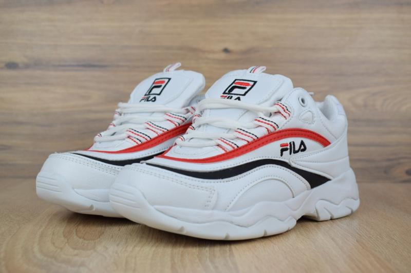 Фото  Fila Ray White Red (36-41)