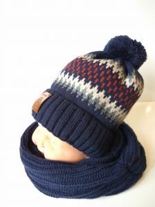 Фото Головні убори, Головні убори зимові Комплект Ел.хл Топ з шарфом