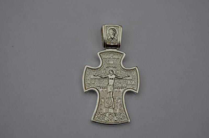 Фото Нет в наличии, Православный нательный двухсторонний крест Православный нательный двухсторонний крест