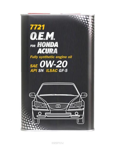 MANNOL 0w20 Honda, Acura синтетика 4л.