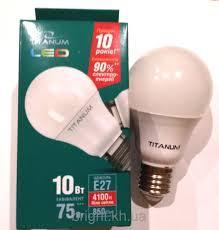 Светодиодная LED лампа Titanum A60 10W E27 4100K