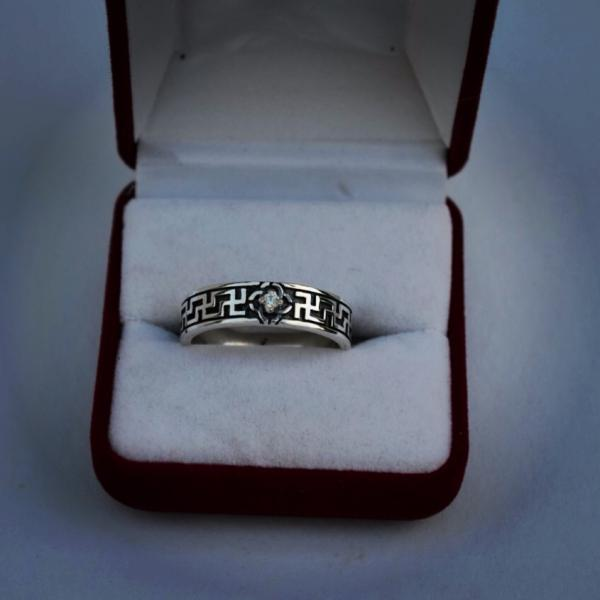 Серебряное кольцо Славян «Свадебник»