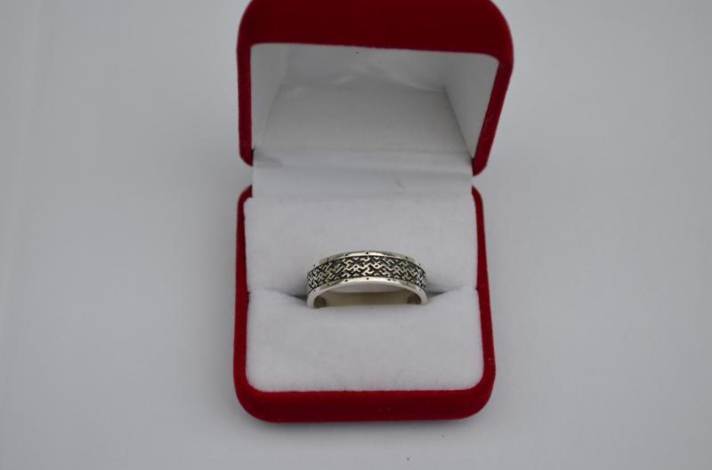 Фото Обережные кольца славянской тематики Серебряное обережное кольцо