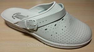Фото Обувь рабочая медицинская женская оптом Сабо белые босоножки медицинские