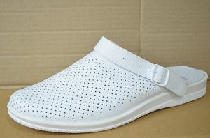 Фото Обувь рабочая медицинская мужская оптом Сабо мужские медицинские кожаные