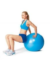 Фото Фитболы (мячи для фитнеса), балансировочные полусферы BOSU Фитбол (гимнастический мяч) 65 см + насос