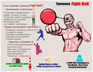 Фото Подвесные системы (цепи), крепления для груш Мяч на резинке для боксеров FIGHT BALL (мяч боксера)