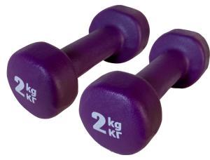 Фото Гантели  виниловые, неопреновые, пластиковые Неопреновые гантели 2 кг (пара), фиолетовые