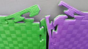 Фото Татами ласточкин хвост (додянг, будо-маты) EVA Мат-татами ласточкин хвост (EVA 20мм, размер 1х1м, Турция) фиолетово-зеленый