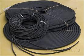 Шнуры резиновые (круглого и прямоугольного сечения)