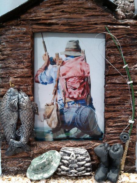 Фото Ключницы Фоторамка - ключница Клевого клева Оригинальный подарок мужчине рыбаку Ручная работа