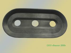 Фото  Уплотнитель съемный резиновый плоской присоски 190х90х20 мм типа BSP