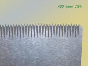 Фото  Нож отсекающий зубчатый 145х27х1, 7 мм. для упаковочных автоматов фирмы «Колибри»