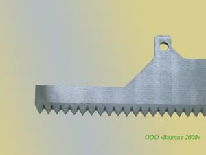Фото  Нож зубчатый 330х70х3, 0 мм, отсечной для упаковочно-фасовочных автоматов фирмы «ИНТА»