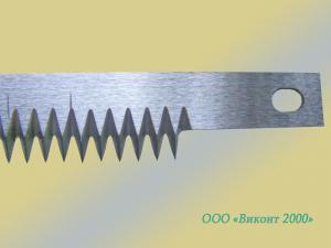 Фото  Нож зубчатый 424х19х1, 65 мм для отсечки пленки автомата «Matrix»