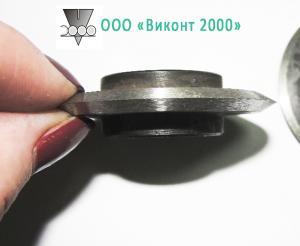 Фото  Нож круглый ø50хø19х6 мм для раскроя упаковочной бумаги или пленки