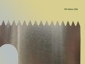 Фото  Нож двухсторонний зубчатый 320х54х2, 0 мм для картонно-тарного оборудования