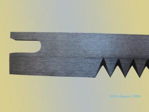 Фото  Нож зубчатый 303х20х2, 0 мм для упаковочных автоматов «ИНТА»