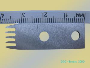 Фото  Нож промышленный 10х40х1, 2 мм отсекающий для упаковочного автомата фирмы «Инта»
